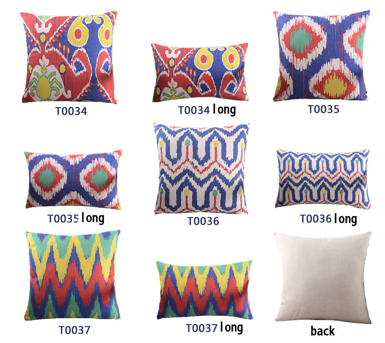 Redyellownavy Blueturquoise Throw Pillowsthrow Pillow Sofa Ikat